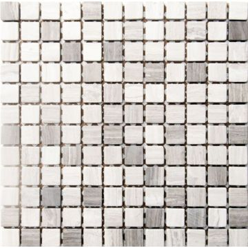 Sub 1729 keramische tegelmat 30,5x30,5 cm, blok 2,3x2,3 cm, prijs per stuk, rome, grijs