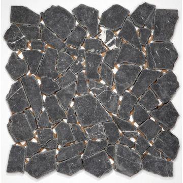 Sub 1729 keramische tegelmat 30,5x30,5 cm, prijs per stuk, breuk, nero marquina