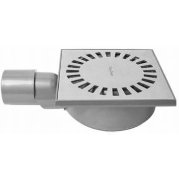 Easy Drain Aqua Compact vloerput abs 15x15 cm waterslot 50 mm, rvs