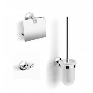 Sub 152 3-delige set met toiletborstel-, toiletrolhouder en handdoekhaak, chroom