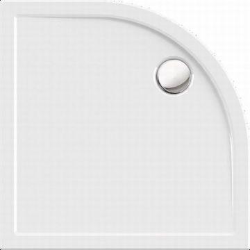 Sub 044 douchebak kwartrond 90x90x3.5 cm met rand, wit