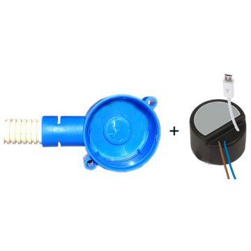 AquaSound mini adapter/lader met Micro-USB plug inclusief inbouwdoos