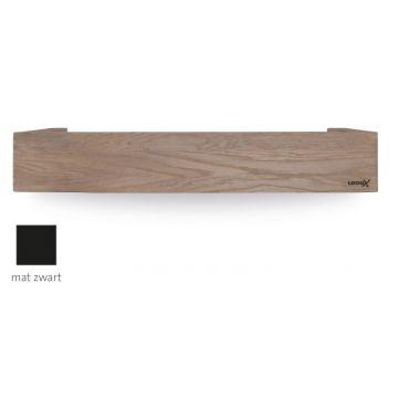 LoooX Wood Shelf Box opbergplank met mat zwarte bodemplaat 60 cm, oId grey/mat zwart