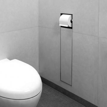 LoooX Closed inbouwtoiletrolhouder incl. toiletrolhouder betegelbaar, rvs geborsteld