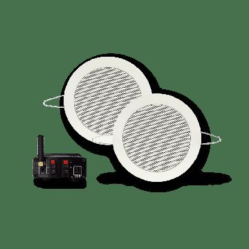 AquaSound Bluetooth Music Center 50W met Twist speakerset 135 mm 2 stuks, wit