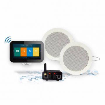 AquaSound N-Joy Music Center met controller, lader, Twist speakers en Mini-Box