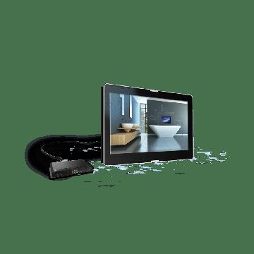 """AquaSound Exclusive opbouw LED TV 27"""" met DVB-C / DVB-T/ DVB-T2, HDMI-CEC"""