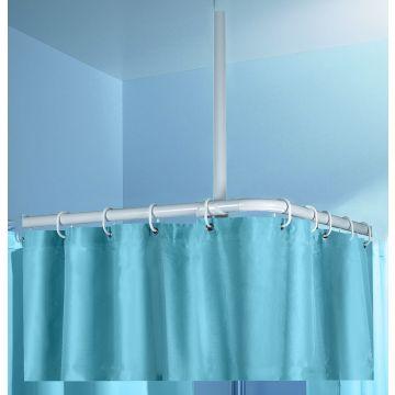 Kleine Wolke douche stang plafondsteun H60 cm, ø2,5 cm, wit