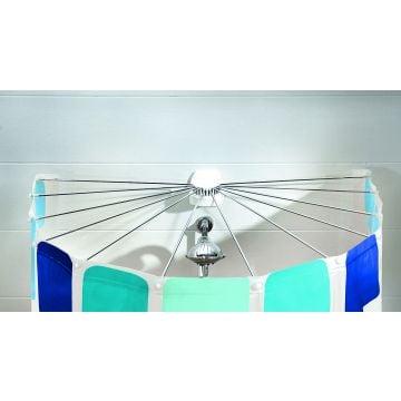Kleine Wolke Big spider paraplu systeem voor douchegordijn 94x71 cm, wit
