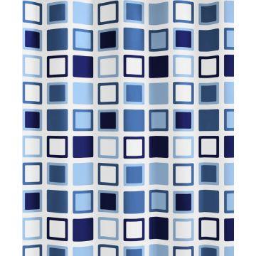 Kleine Wolke Clipper douchegordijn b180xh200 cm, azuurblauw