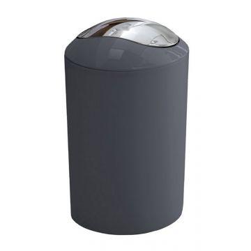 Kleine Wolke Glossy afvalemmer met klapdeksel 20x30 cm, 5 liter, antraciet