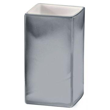 Kleine Wolke Glamour tandenborstelbeker 10,3x6,2 cm, zilver