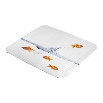 Kleine Wolke Goldfish douchemat b55xd55 cm, multicolor
