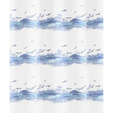 Kleine Wolke Seaside douchegordijn 240 cm breed, 180 cm hoog, krokusblauw