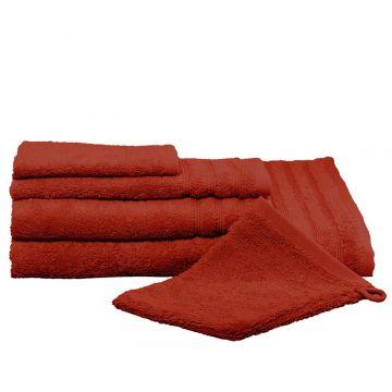 Kleine Wolke Royal handdoek 50x100 cm, rood