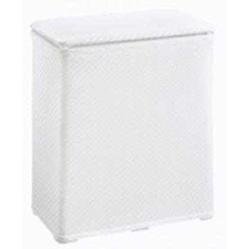 Kleine Wolke Wäscheboy geweven wasmand 48x27x55 cm, wit