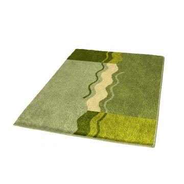 Kleine Wolke Vanessa badmat b60xd100xh2,3 cm, palmgroen