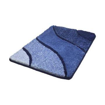 Kleine Wolke Wave badmat b60xd90xh2,3 cm, navy blauw