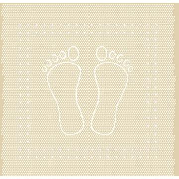 Kleine Wolke Foot anti slip douchemat 55x55 cm, zandbeige