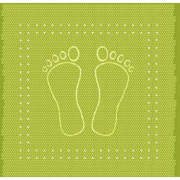 Kleine Wolke Foot anti slip douchemat 55x55 cm, kiwigroen