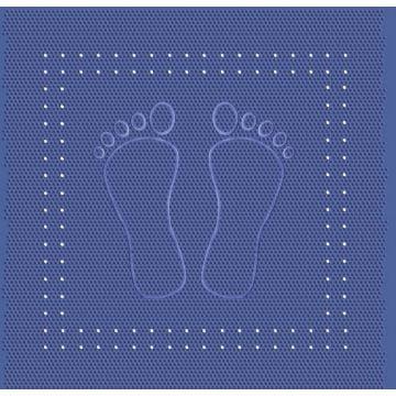Kleine Wolke Foot anti slip douchemat 55x55 cm, blauw