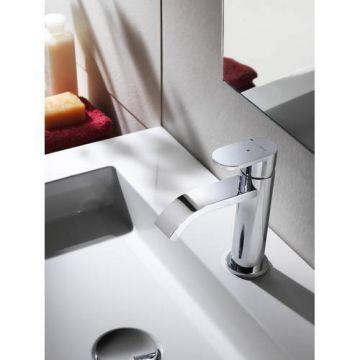 Hotbath Friendo wastafelkraan met cascade uitloop, chroom