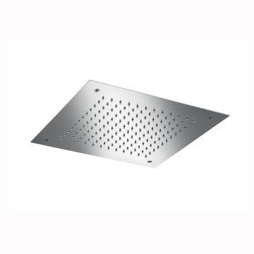 Hotbath Mate inbouw hoofddouche 30x30 cm vierkant, geborsteld nikkel