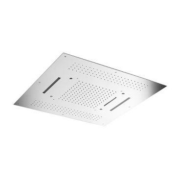 Hotbath Mate hoofddouche Triple met LEDs 95x95 cm vierkant, chroom