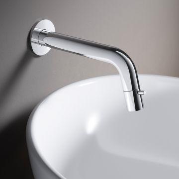 Hotbath Cobber 1-hendel fonteinkraan wandmontage, chroom