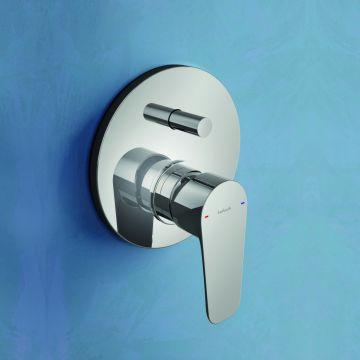 Hotbath Gringo inbouwdouche-/badmengkraan met automatische omstelling, chroom
