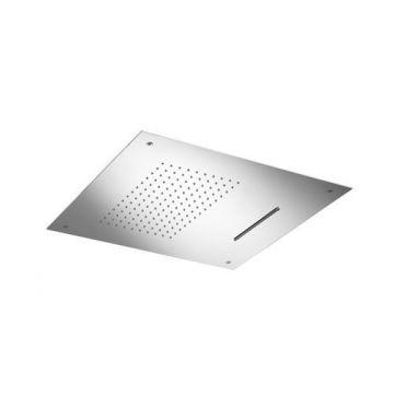 Hotbath Mate inbouw hoofddouche Dualflow 50x50 cm vierkant, chroom
