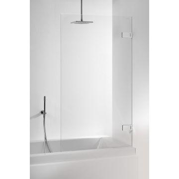 Sealskin Optix 1-delige badwand rechts 800 br 1600 hg, chroom zilver hoogglans helder glas + sealglas