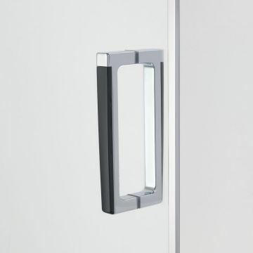 Sealskin get wet Custom deur (rechts) met zijwand (links), 900x900 mm, 6 mm helder veiligheidsglas
