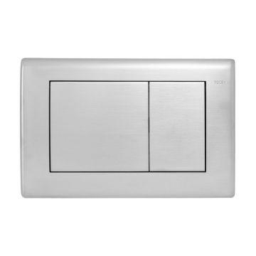 Sub Planus wc-bedieningplaat voor duospoeltechniek, geborsteld rvs