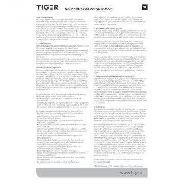 Tiger Items toiletborstel met houder rechthoekig 8,4 x 11 40 cm, rvs