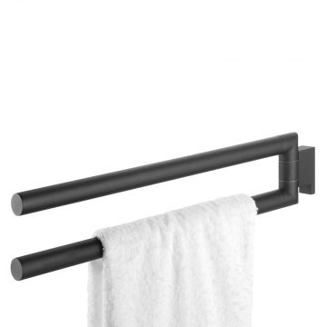 Tiger Bold 2-armige handdoekhouder draaibaar 2,5x46,2x9,7 cm, zwart