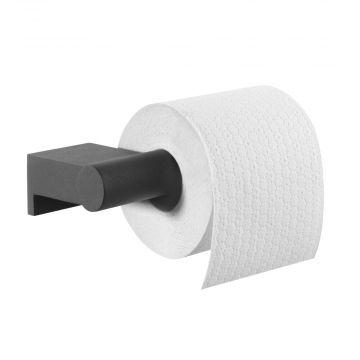 Tiger Bold toiletrolhouder zonder klep 16,8x8,5x4,2 cm, zwart