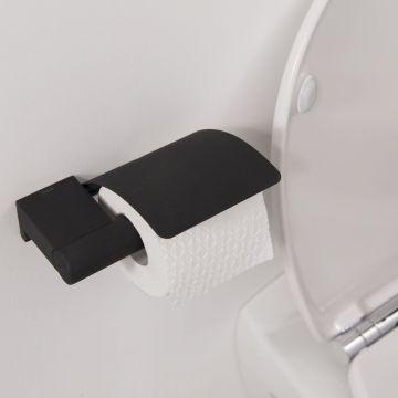 Tiger Bold toiletrolhouder met klep 16,8x13,4x5,2 cm, zwart