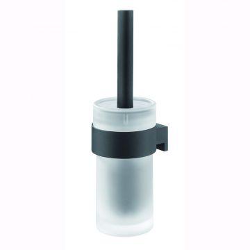Tiger Bold toiletborstel met houder 10,1x12x33,9 cm, zwart