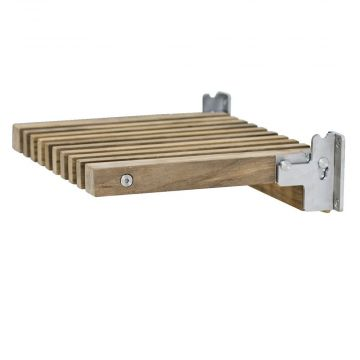 Skagerak Cutter houten opklapbaar badkamer zitje 38,5 x 31 x 9,5 cm, teak