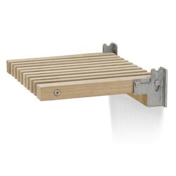Skagerak Cutter houten opklapbaar badkamer zitje 38,5 x 31 x 9,5 cm, eiken