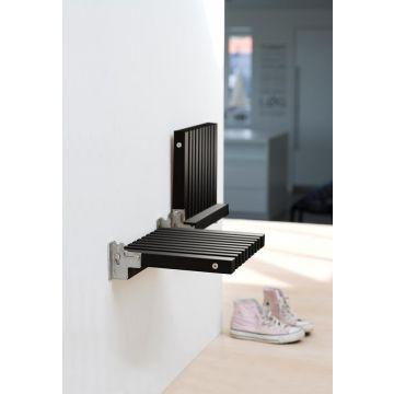 Skagerak Cutter houten opklapbaar badkamer zitje 38,5 x 31 x 9,5 cm, zwart eiken
