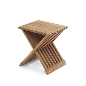 Skagerak Fionia houten badkamerkruk 40 x 33,5 x 44 cm, teak