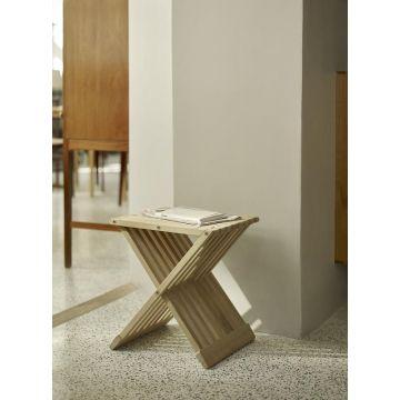 Skagerak Fionia houten badkamerkruk 40 x 33,5 x 44 cm, eiken
