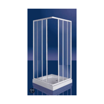 Plieger Class douchecabine hoekinstap 3 mm glas 80/90x185 cm, wit