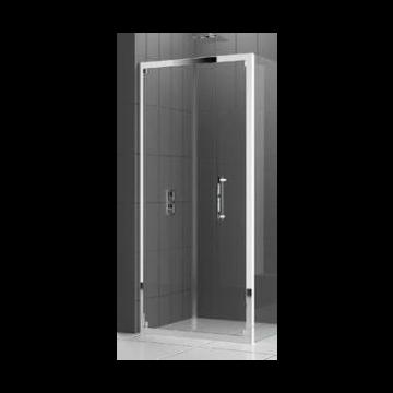 Novellini Rose S vouwdeur voor nis of zijwand 84/90x200 cm, wit/satin ROSES844D