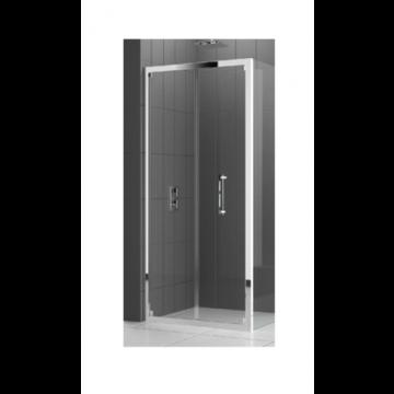 Novellini Rose S vouwdeur voor nis of zijwand 84/90x200 cm, chroom helder ROSES841K