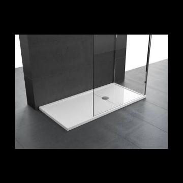 Novellini Olympic Plus kunststof douchebak acryl rechthoekig 140x100x4,5 cm incl. sifon wit