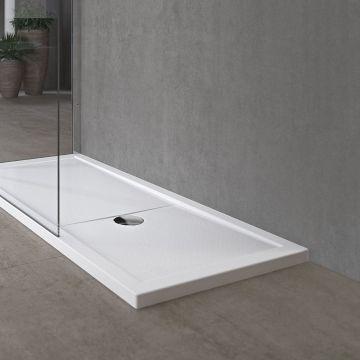 Novellini Olympic Plus kunststof douchebak acryl rechthoekig 120x100x12,5 cm incl. poten en sifon wit