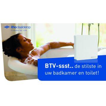 Itho Daalderop BTV badkamer- en toilet ventilator BTV-ssst T met timer en 2 snelheden wit